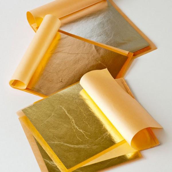 Povrchová úprava-Metalická fólie Transfer leaf