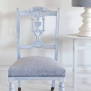 white wax chair