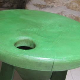 1 vrstva šelaku, Antibes green, povrchová úprava světlý a tmavý vosk
