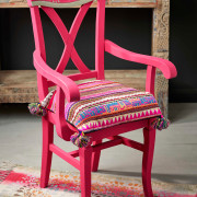 Indian-inspired-Capri-Pink-chair-with-Faux-Bone-Inlay-stencil-1